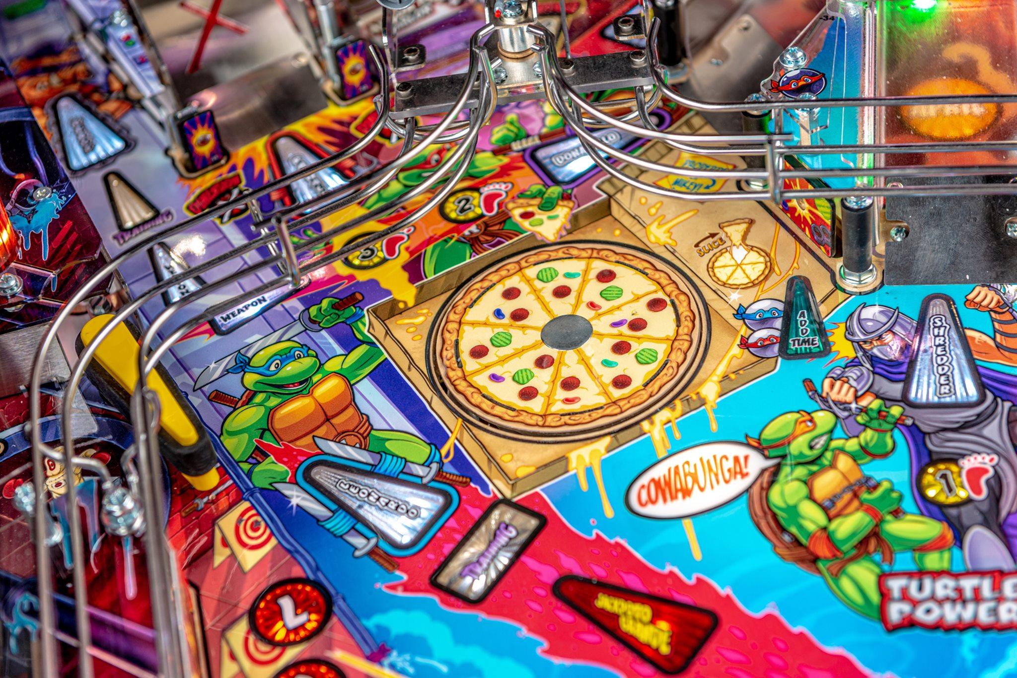 TMNT Pinball Ninja Pizza Multiball