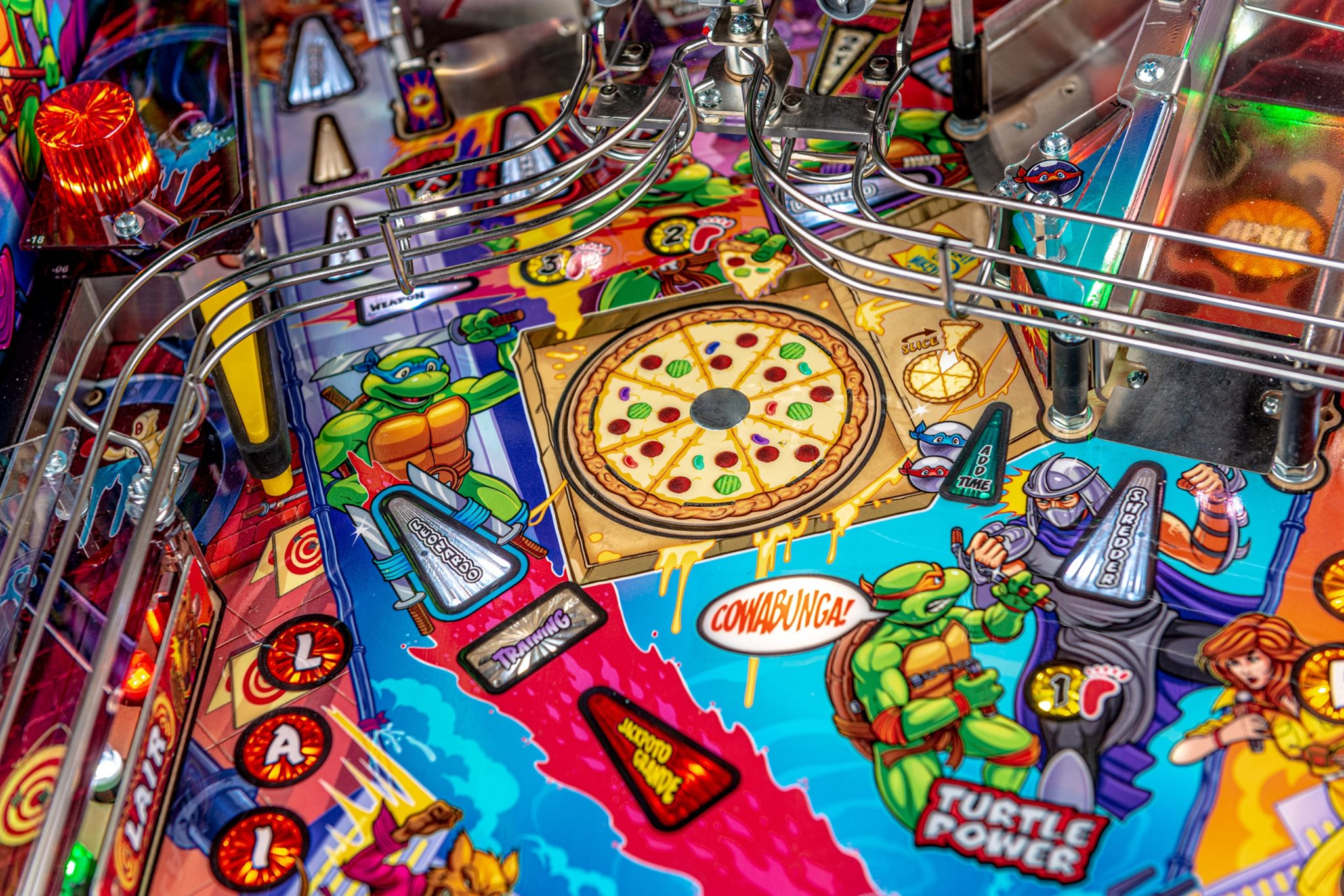 TMNT Pinball Spinning Pizza Disc