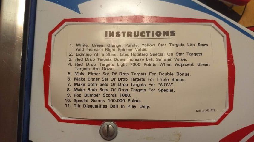 Instructions Card