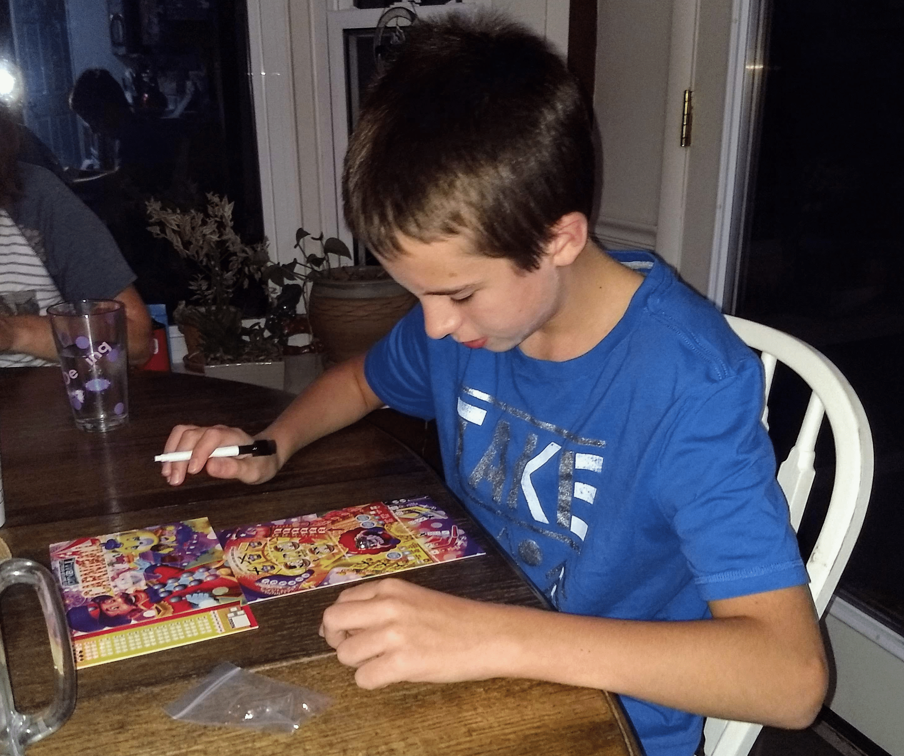 12 year old playing Super-Skill Pinball Game