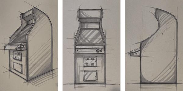 VIDBALL arcade cabinet mock-ups